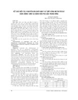 KẾT QUẢ điều TRỊ u NGUYÊN bào NUÔI NGUY cơ THẤP BẰNG METHOTREXAT hàm LƯỢNG 15MG tại BỆNH VIỆN PHỤ sản TRUNG ƯƠNG