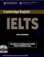 Cambridge IELTS practice test 9 (test + key)
