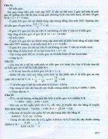 Bộ đề thi trắc nghiệm khách quan sinh học 8