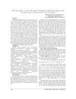 KẾT QUẢ QUẢN lý, điều TRỊ NGOẠI TRÚ BỆNH NHÂN đái THÁO ĐƯỜNG tại BỆNH VIỆN TUYẾN HUYỆN, TỈNH THÁI BÌNH