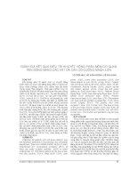 ĐÁNH GIÁ kết QUẢ điều TRỊ KHUYẾT HỔNG PHẦN mềm cơ QUAN vận ĐỘNG BẰNG các vạt DA cân có CUỐNG MẠCH LIỀN