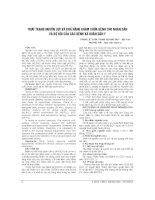 THỰC TRẠNG NGUỒN lực và KHẢ NĂNG KHÁM CHỮA BỆNH CHO NHÂN dân và bộ đội của các BỆNH xá QUÂN dân y