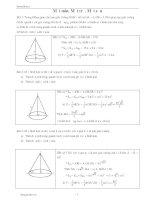 Bài tập chuyên đề mặt nón, mặt trụ, mặt cầu