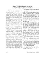 ĐÁNH GIÁ HIỆU QUẢ điều TRỊ ĐAU dây THẦN KINH tọa DO THOÁI hóa cột SỐNG BẰNG y học cổ TRUYỀN