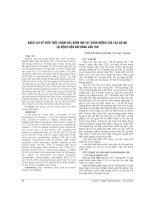 KHẢO sát về KIẾN THỨC CHĂM sóc BỆNH NHI TAY CHÂN MIỆNG của các bà mẹ tại BỆNH VIỆN NHI ĐỒNG cần THƠ