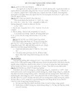 tổng hợp đề thi và đáp án học sinh giỏi môn lý lớp 9