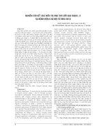 NGHIÊN cứu kết QUẢ điều TRỊ UNG THƯ lưỡi GIAI đoạn i, II tại BỆNH VIỆN k hà nội từ 2005 2010