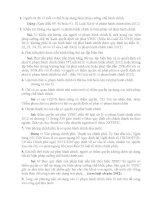 câu hỏi ôn tập và đáp án chi tiết môn luật hành chính