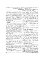 NGHIÊN cứu tác DỤNG hỗ TRỢ hạ ĐƯỜNG HUYẾT của bài THUỐC hđ1 TRÊN BỆNH NHÂN đái THÁO ĐƯỜNG TYP 2