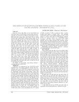 ĐẶC điểm CHỈ số SCORTEN của BỆNH NHÂN dị ỨNG THUỐC có hội CHỨNG STEVENS   JOHNSON và LYELL