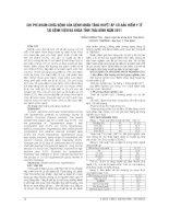 CHI PHÍ KHÁM CHỮA BỆNH của BỆNH NHÂN TĂNG HUYẾT áp có bảo HIỂM y tế tại BỆNH VIỆN đa KHOA TỈNH THÁI BÌNH năm 2011