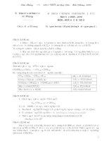 tổng hợp tất cả các đề thi và đáp án hóa 12