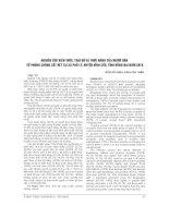 NGHIÊN cứu KIẾN THỨC, THÁI độ và THỰC HÀNH của NGƯỜI dân về PHÒNG CHỐNG sốt rét tại xã PHÚ lý, HUYỆN VĨNH cửu, TỈNH ĐỒNG NAI năm 2010