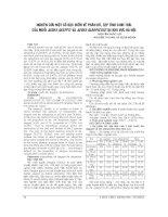 NGHIÊN cứu một số đặc điểm về PHÂN bố, tập TÍNH SINH THÁI của MUỖI AEDES AEGYPTI và AEDES ALBOPICTUS tại KHU vực hà nội