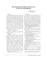 ĐẶC điểm HÌNH ẢNH CỘNG HƯỞNG từ TRONG CHẤN THƯƠNG KHỚP gối