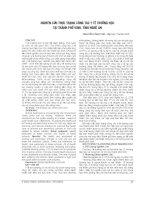 NGHIÊN cứu THỰC TRẠNG CÔNG tác y tế TRƯỜNG học tại THÀNH PHỐ VINH, TỈNH NGHỆ AN