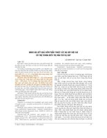ĐÁNH GIÁ kết QUẢ sớm PHẪU THUẬT cắt dạ dày nội SOI hỗ TRỢ TRONG điều TRỊ UNG THƯ dạ dày