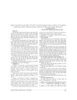 ĐÁNH GIÁ kết QUẢ điều TRỊ vết THƯƠNG MẠCH máu NGOẠI VI tại BỆNH VIỆN đa KHOA TRUNG ƯƠNG THÁI NGUYÊN GIAI đoạn 2005 2011