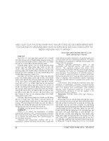 HIỆU QUẢ của PHƯƠNG PHÁP KHỬ KHUẨN ỐNG nội SOI mềm BẰNG máy tạo OZONE IHI và DUNG DỊCH KHỬ KHUẨN mức độ CAO CIDEX OPA tại BỆNH VIỆN đại học y hà nội