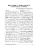 NHẬN xét đặc điểm lâm SÀNG, HÌNH ẢNH nội SOI, mô BỆNH học và kết QUẢ điều TRỊ VIÊM dạ DAY tại BỆNH VIỆN k