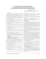 CÁC DẠNG tốc độ DI CHUYỂN của TINH TRÙNG của các NAM GIỚI TRONG các cặp THIỂU NĂNG SINH sản
