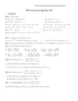 Đề cương ôn tập học kỳ 1 môn toán lớp 8