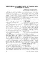 NGHIÊN cứu tác DỤNG hạ GLUCOSE máu của bài THUỐC THẬP vị GIÁNG ĐƯỜNG PHƯƠNG TRÊN BỆNH NHÂN đái THÁO ĐƯỜNG TYP 2