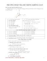 19 vấn đề về tọa độ không gian
