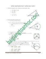 Toán 9  tổng hợp một số công thức và tính chất của hình học