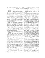 THỰC TRẠNG sơ cứu và vận CHUYỂN nạn NHÂN TAI nạn GIAO THÔNG ĐƯỜNG bộ từ HIỆN TRƯỜNG TAI nạn