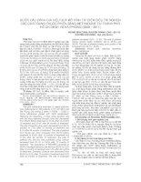 BƯỚC đầu ĐÁNH GIÁ HIỆU QUẢ mô HÌNH THÍ điểm điều TRỊ NGHIỆN các CHẤT DẠNG THUỐC PHIỆN BẰNG METHADONE tại THÀNH PHỐ hồ CHÍ MINH và hải PHÒNG (2009 – 2011)