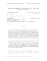 Do we need hundreds of classifiers to solve real world classification problems?