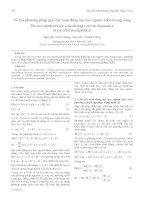 Proceedings VCM 2012 78 về hai phương pháp giải bài toán động lực học ngược robot song song