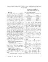 ĐÁNH GIÁ TÌNH TRẠNG DINH DƯỠNG của NGƯỜI BỆNH TRƯỚC mổ UNG THƯ dạ dày