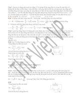 Tuyển tập 20 bài tập mạch dao đông LC có giải chi tiết luyện thi đại học