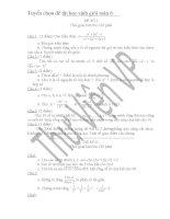 30 bộ đề thi học sinh giỏi toán lớp  6 có lời giải