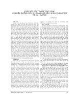 KHẢO sát về kỹ NĂNG THỰC HÀNH của điều DƯỠNG VIÊN KHI CHĂM sóc BỆNH NHÂN và các yếu tố ẢNH HƯỞNG