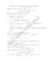 Tuyển chọn các bài toán hệ phương trình hay và khóphần