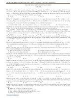 Bài tập trắc nghiệm Điện xoay chiều (có đáp án)