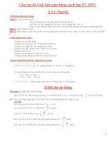 Chuyên đề giải bài toán bằng cách lập phương trình, hệ phương trình (có giải)
