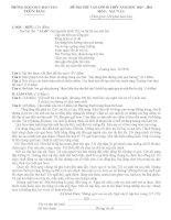 Tuyển tập đề thi vào lớp 10 môn văn (có lời giải) (13)