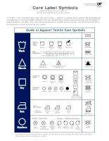 care label symbols  Nhãn Hướng Dẫn Sử Dụng Ngành May