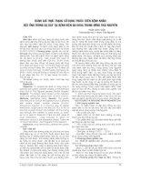 ĐÁNH GIÁ THỰC TRẠNG sử DỤNG THUỐC TRÊN BỆNH NHÂN đặt ỐNG THÔNG dạ dày tại BỆNH BIỆN đa KHOA TRUNG ƯƠNG THÁI NGUYÊN
