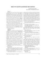NHẬN xét kết QUẢ điều TRỊ GLÔCÔM BẰNG THUỐC TRAVOPROST