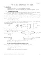 Chương 2 tính năng cơ lý của vật liệu