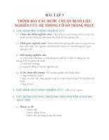 BÀI tập môn hệ THỐNG cỡ số TRANG PHỤC   bài tập 3 TRÌNH bày các bước CHUẨN bị số LIỆU NGHIÊN cứu hệ THỐNG cỡ số TRANG PHỤC