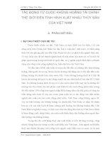 TÁC ĐỘNG từ CUỘC KHỦNG HOẢNG tài CHÍNH THẾ GIỚI đến TÌNH HÌNH XUẤT KHẨU THỦY sản của VIỆT NAM