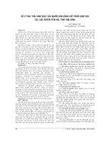 XỬ lý rác THẢI SINH HOẠT của NGƯỜI dân BẰNG CHẾ PHẨM SINH học tại 3 xã , HUYỆN TIẾN hải, THÁI BÌNH