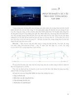 Chương 3   PHÂN TÍCH kết cấu cầu TREO dây VÕNG BẰNG SAP 2000