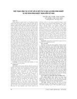 THỰC TRẠNG CÔNG tác sơ cấp cứu và điều TRỊ TAI nạn GIAO LAO ĐỘNG NÔNG NGHIỆP tại các VÙNG NÔNG NGHIỆP TRỌNG điểm VIỆT NAM